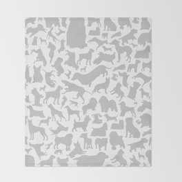 Dog a background Throw Blanket