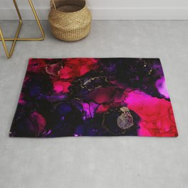 The Only Soul - Pink and Purple Abstract Rug