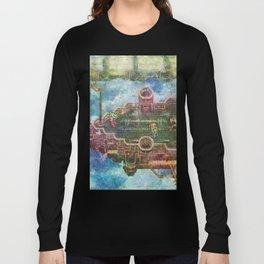 Final Fantasy VI Terra Branford Airship Impressionist Painting Long Sleeve T-shirt