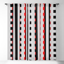 Rectangles Design red black Blackout Curtain