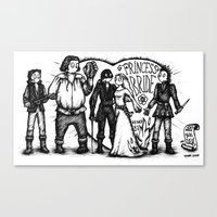 the princess bride Canvas Prints featuring Princess Bride by SoNieuf
