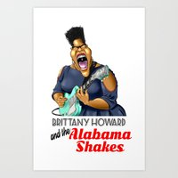 Brittany Howard  Caricature for shirt Art Print