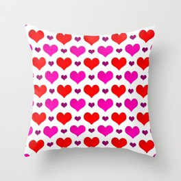 Love Hearts Pattern Throw Pillow