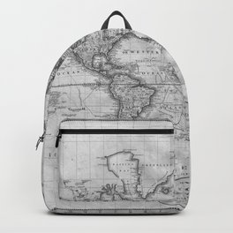 Black and White World Map (1801) Backpack