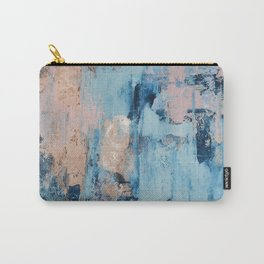 Sunbeam: a pretty abstract painting in pink, blue, and gold by Alyssa Hamilton Art Carry-All Pouch