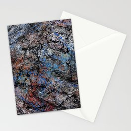 Number 1 Abstract Painting by Mark Compton Stationery Cards