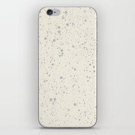 Chaotic circles pattern. Cream. iPhone Skin