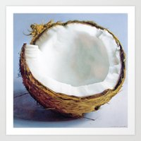 coconut wishes Art Prints featuring Coconut by Justin Yanke