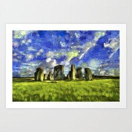 Stonehenge Vincent Van Gogh Art Print