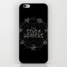 The Seven Wonders iPhone & iPod Skin