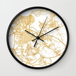 HAVANA CUBA CITY STREET MAP ART Wall Clock