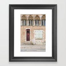 Little Brown Door Framed Art Print