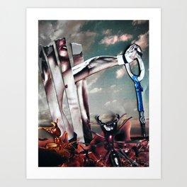 Gravity | Collage Art Print