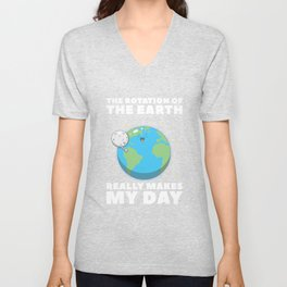 Rotation Of Earth Unisex V-Neck