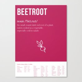 Beetroot - What's in it for me?! Canvas Print