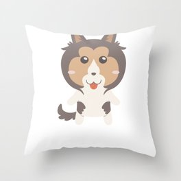 I Just Freaking Love Shelties Throw Pillow