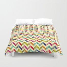 Chevron Multi Color Zigzag Pattern Duvet Cover