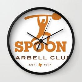 Spoon Barbell Club Wall Clock