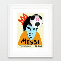 messi Framed Art Prints featuring Messi by peopleilove