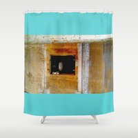window Shower Curtains featuring WINDOW by  ECOLARTE