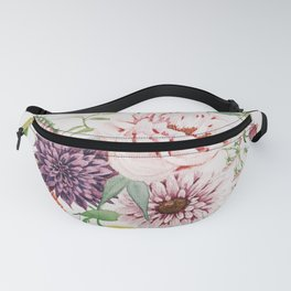Dahlia, Foxglove, and Poppies Fanny Pack