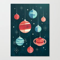 Joy to the Universe (in Teal) Canvas Print