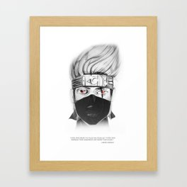 Hatake Kakashi - of the sharingan Framed Art Print