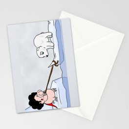 Saving the polar bears Stationery Cards