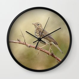 Meadow Pipit Wall Clock
