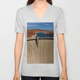 Glen Canyon Dam and Lake Powell Unisex V-Neck