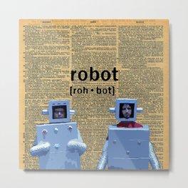 Flight of the Robots Metal Print