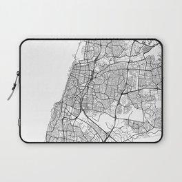 Tel Aviv Map White Laptop Sleeve