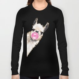 Bubble Gum Sneaky Llama in Green Langarmshirt