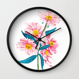 Pink Floral || Wall Clock