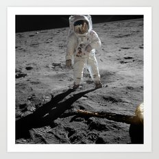 Astronaut Buzz Aldrin Apollo 11 original Photograph 1969 Standing on The Moon Print Art Print