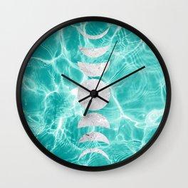 Pool Dream Moon Phases #1 #water #decor #art #society6 Wall Clock