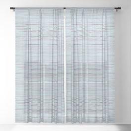 Meteor Stripes - Light Blue Sheer Curtain