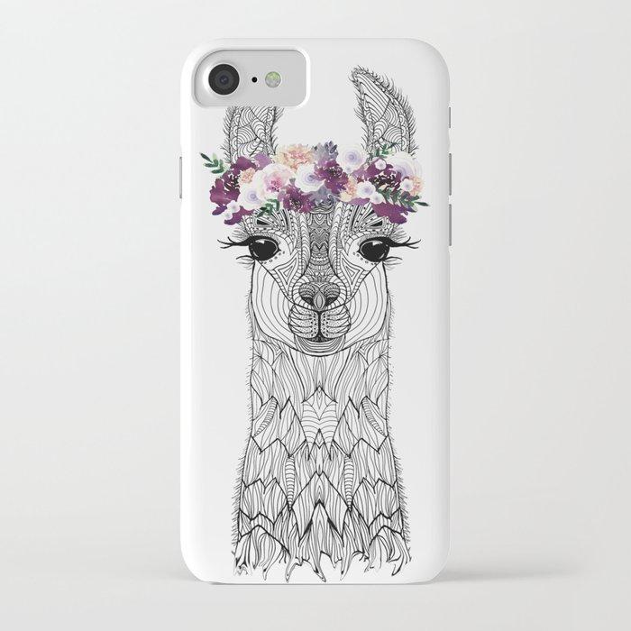 flower girl alpaca iphone case