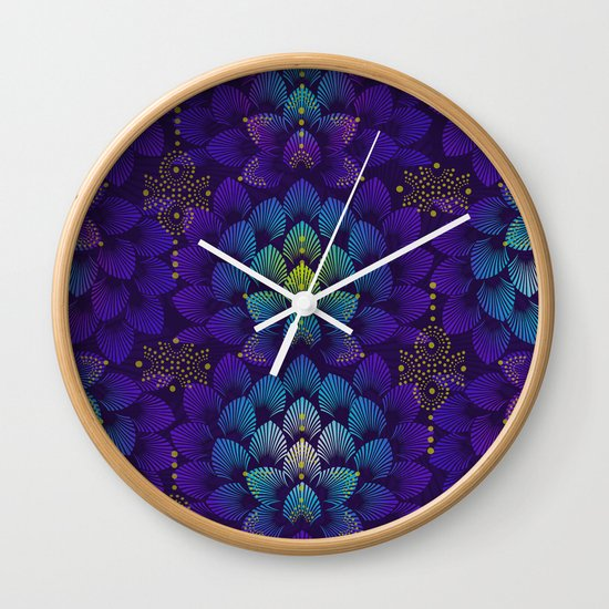 Variations on A Feather IV - Stars Aligned Wall Clock