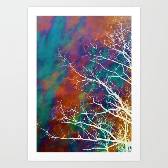 Worn Sky Art Print