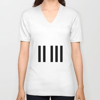 piano V-neck T-shirts featuring Piano by condimen