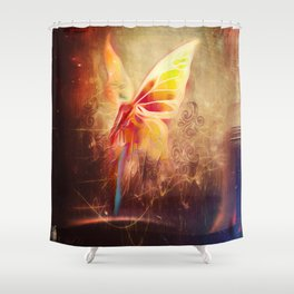 Breezy Morning Blues Shower Curtain
