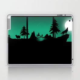 The sheep and the wolf in the woods Laptop & iPad Skin