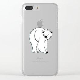The Breathtaking Polar Bear Clear iPhone Case