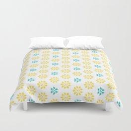 Spring Yellow Blue Flower Pattern Duvet Cover