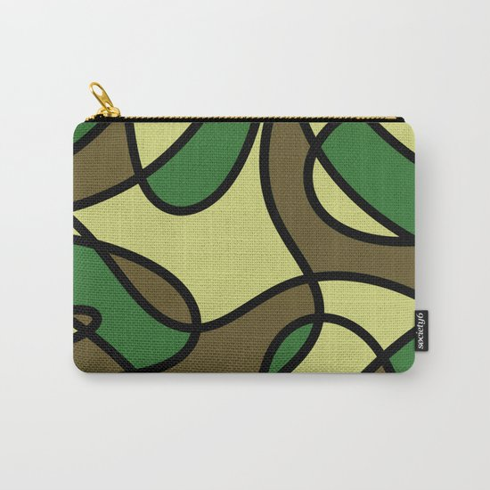 Camo Curves - Abstract, camouflage coloured pattern Carry-All Pouch