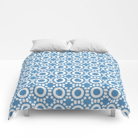Round and Round Blue Comforters