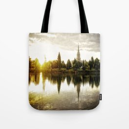 Idaho Falls Temple - Sunrise Tote Bag