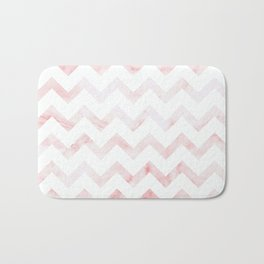 Pink Marble Chevron Bath Mat