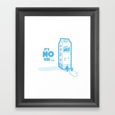 It's no use Framed Art Print
